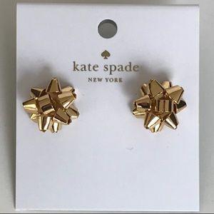 Nwt Kate Spade NY Gold Tone Borgeois Bow Earrings